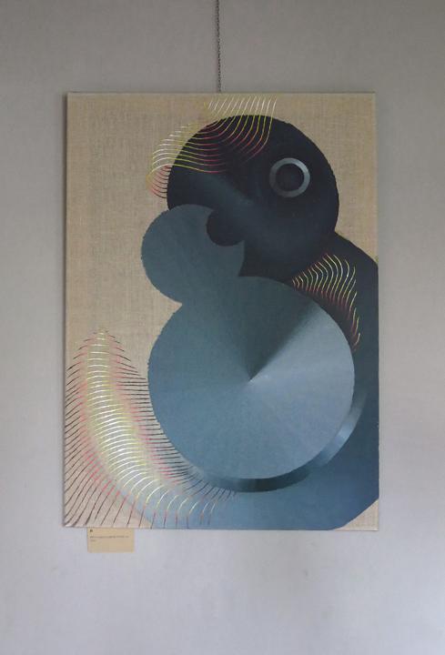 Double 8, acrylic on canvas, 60x80 cm, 2017