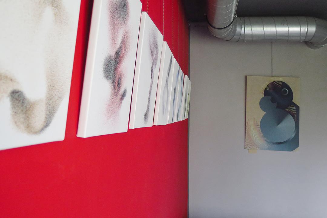 Swarm 9x, acrylic on canvas, 30x40 cm, 2016