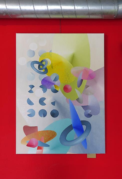 Public pool, acrylic on canvas, 90x130 cm, 2018