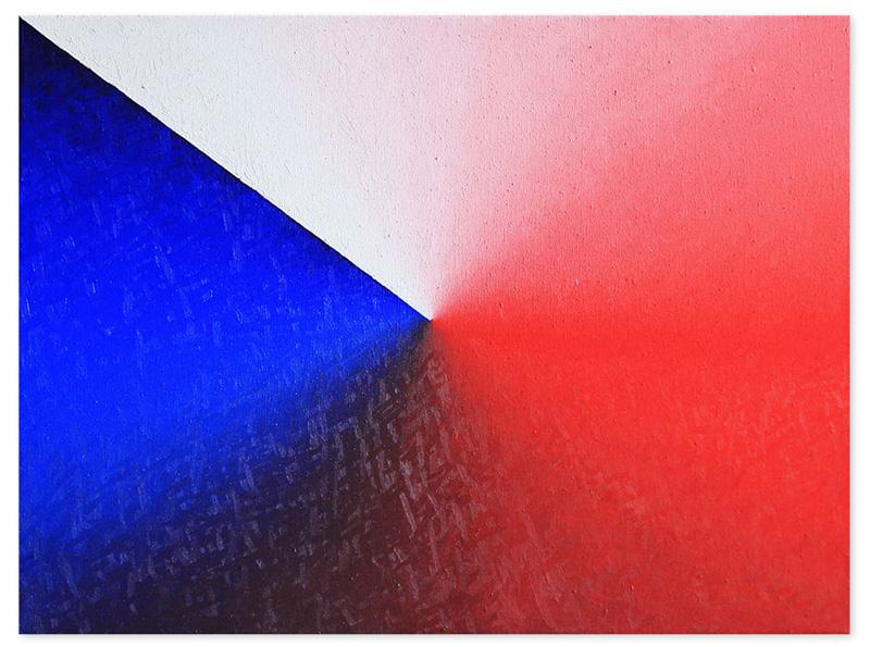 Tricolor gradient – oil on canvas, 85x60 cm