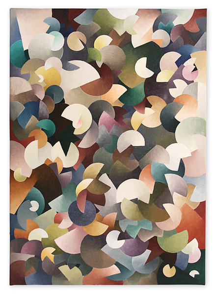 Pattern gradient III – oil on canvas, 80x60 cm